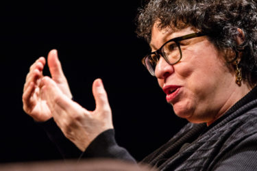 closeup of Sonia Sotomayor