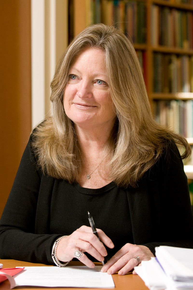 portrait of sociology Karen Cook in her office