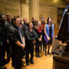Students sing at Memorial Church