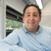 Brian Shaw, Director, Parking & Transportation Services, on the Marguerite shuttle bus.