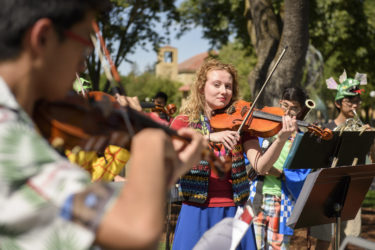 Hannah Thompson plays viola with the Stanford Collaborative Orchestra