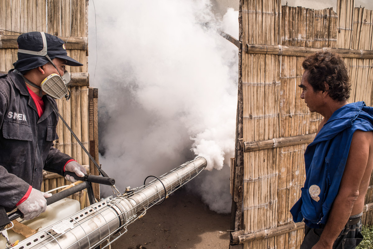 Mosquito spraying in Ecuador