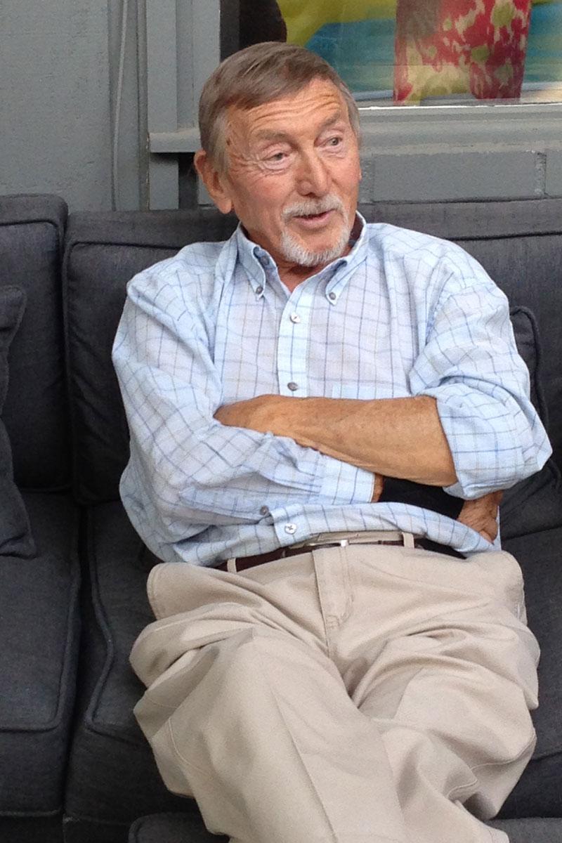 Marc Bertrand, professor emeritus of French