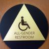 all-gender restroom sign