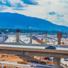 overpass construction near Riverside, California