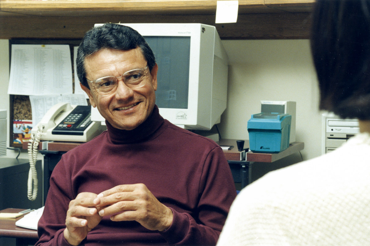 Miguel Mendez in his office