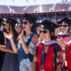 Happy graduates at Commencement