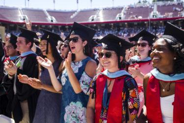 Happy graduates at Commencement