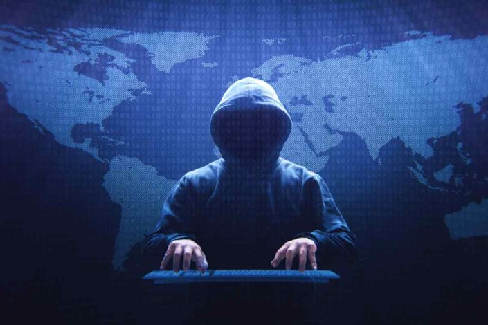 Illustration of anonymous hacker