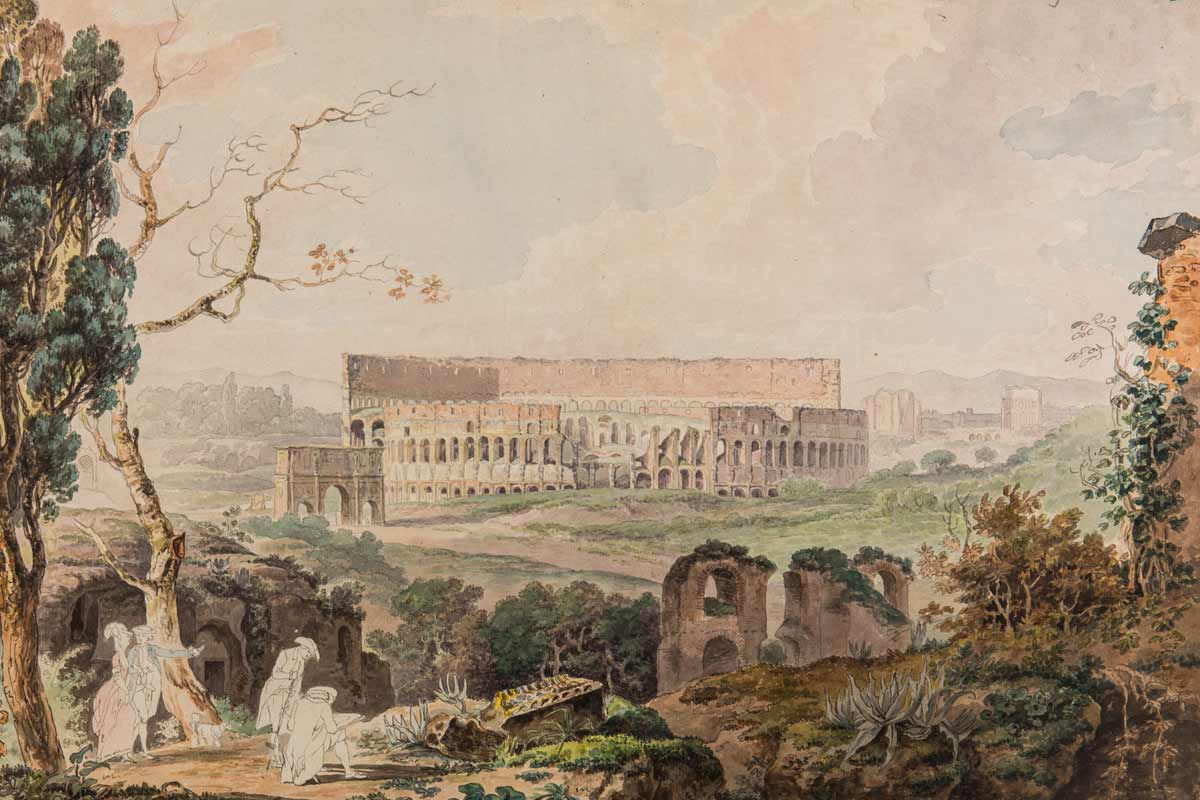Painting of Colosseum