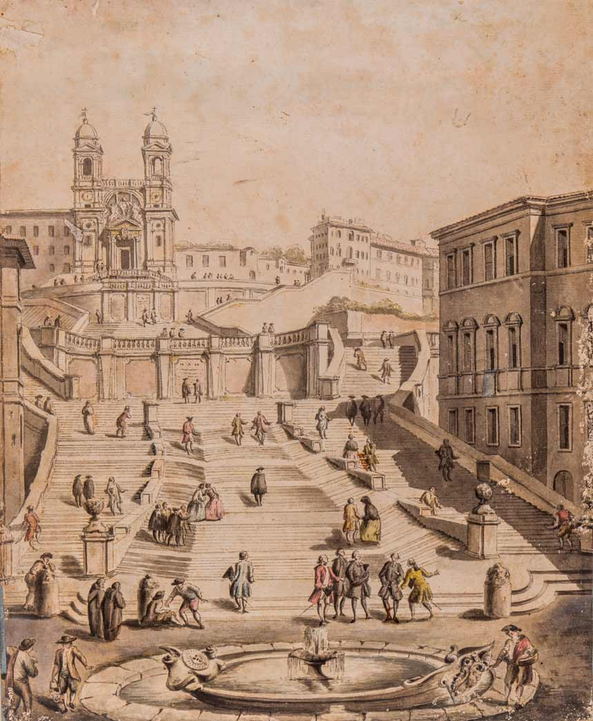 Painting of Spanish Steps