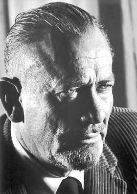 portrait of John Steinbeck in 1962, when he received Nobel Prize in literature