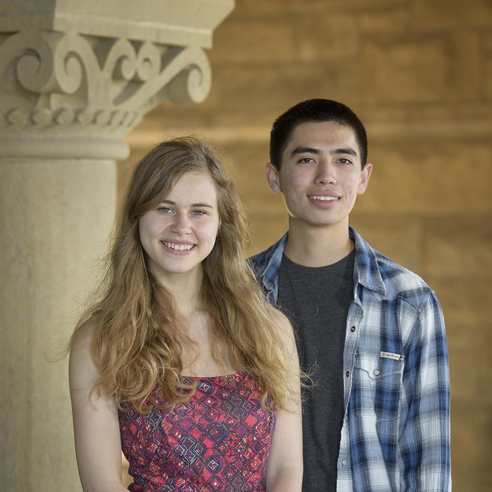 Sydney Maples and Maxwell Spero, undergraduate researchers.