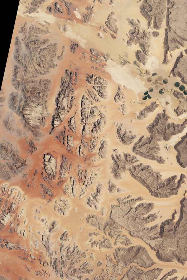 Satellite image of Jordan desert