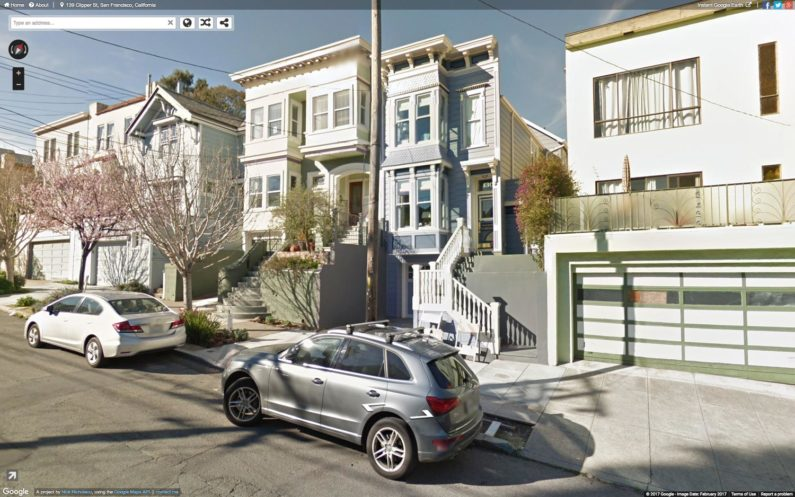 Google Street View image of a neighborhood in San Francisco.