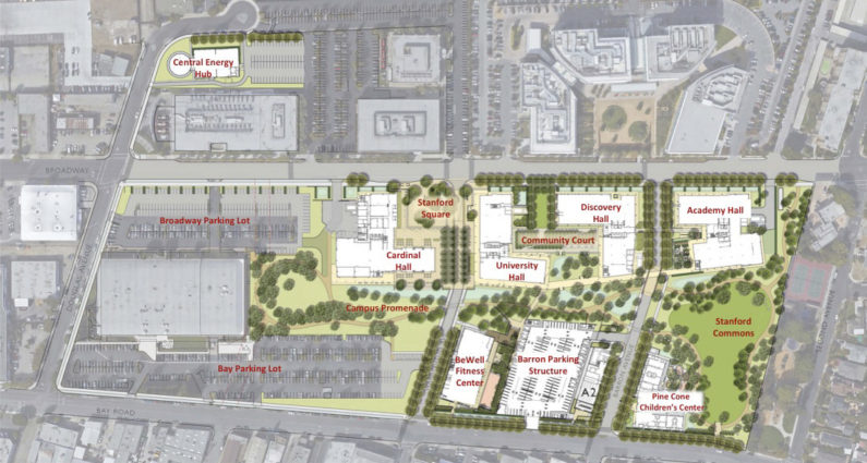 Redwood City site map