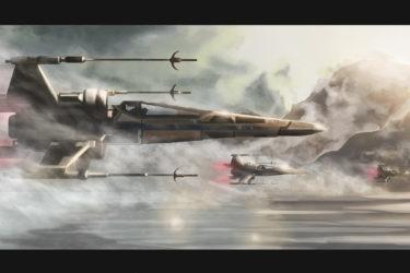 X-wing digital painting