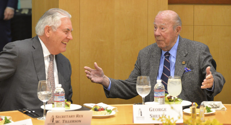 Tillerson and Shultz