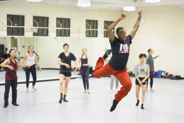 David Freeland of the L.A. Dance Project teaches a master class to Stanford students.