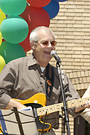 Allen James, performing at the Multicultural Springest in 2002, is a man of many talents.
