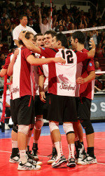 Men's volleyball won a national championship
