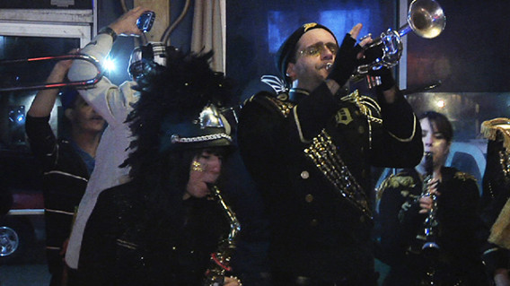"""""""Detroit Party Marching Band,"""" a film co-directed by Stanford documentary film MFA students Katherine Gorringe and Lauren DeFilippo, will be screened in France in January."""