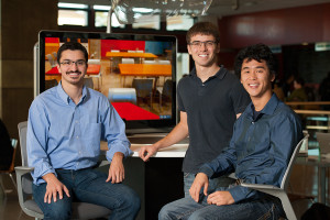 Daniel Maren, Darren Hau, and Andrew Ponec.  (Photo by Linda Cicero/Stanford News)