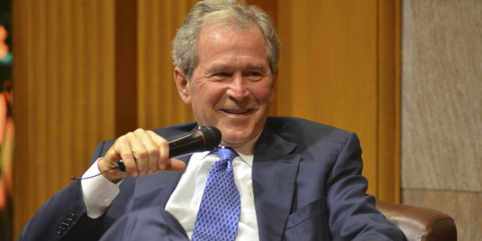 Former President George W. Bush (Photo by Rod Searcey)