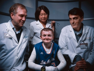 "Epidermolysis bullosa patient Garrett Spaulding and his Stanford doctors were featured in ""The butterfly effect,"" a story published in the summer 2015 issue of the magazine. (Photo credit Max Aguilera-Hellweg)"