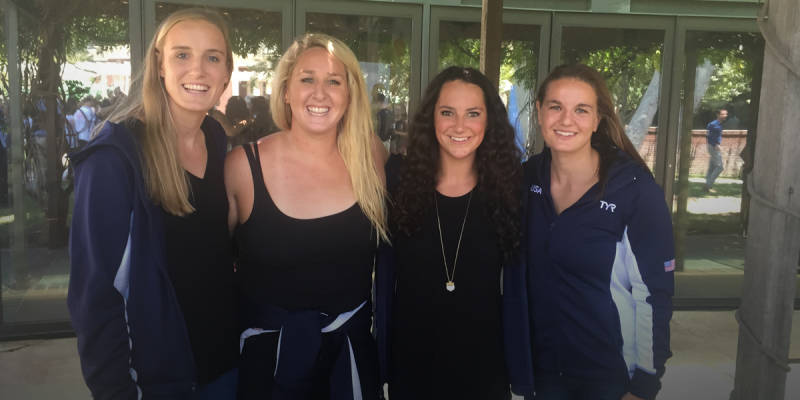 Makenzie Fischer, Melissa Seidemann, Maggie Steffens, Kiley Neushul (Courtesy Stanford Athletics)