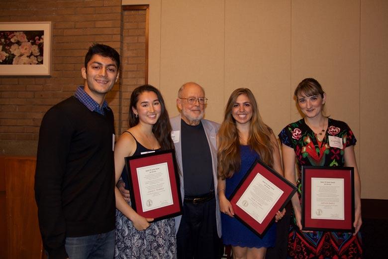 From left, Kunal Sangani, Lauren E. Wedekind, Jim Lyons, Sarah A. Sadlier, Gabriela Badica
