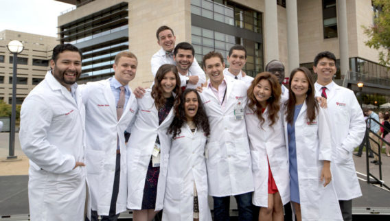 Medical students begin with white coats and stethoscopes | The Dish