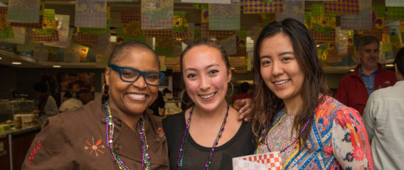 Chef Tanya Holland and Stanford students