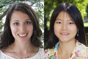 Rebecca Perlman, left, and Shiran Shen
