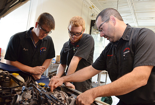 Auto Students, Teachers, and Interns