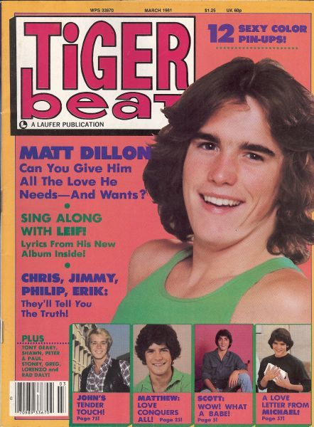 It's Tiger Beat time... From the ladies point of view