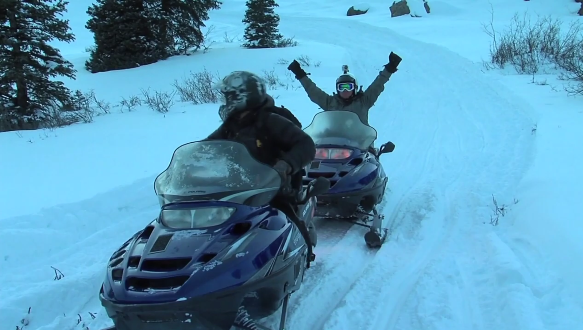 Snowmobiling in Silverton, Co.