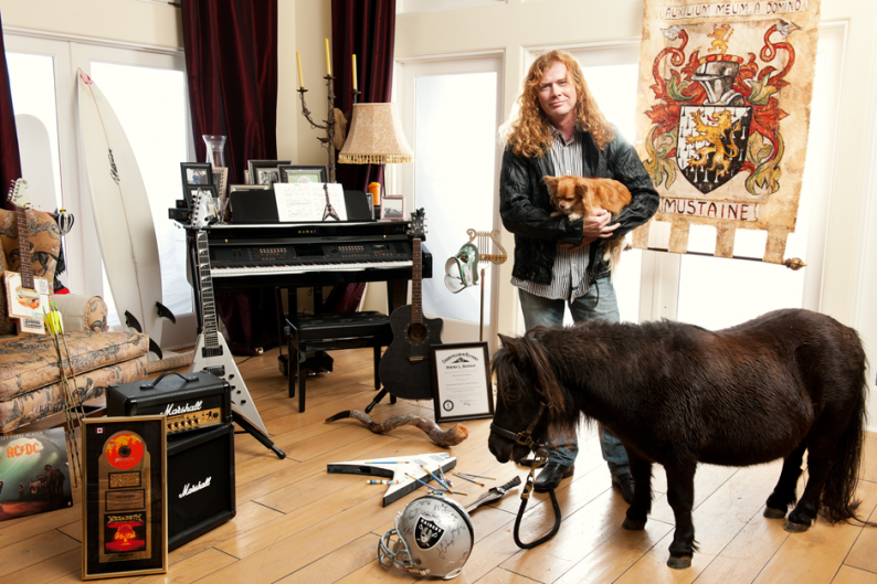 Dave Mustaine & Rocky / Photo by J.R. Mankoff