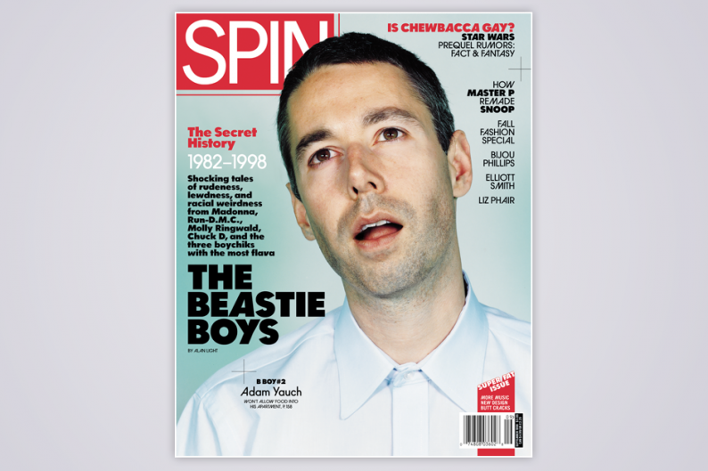 MCA on the cover of SPIN's September 1998 issue / Photo by Mark Alesky