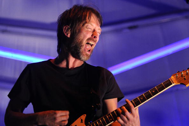 Thom Yorke performs with Atoms for Peace at Coachella 2010 / Photo by Michael Buckner/Getty