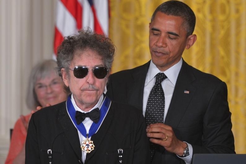 Bob Dylan and Barack Obama