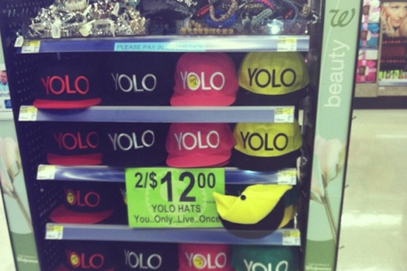 YOLO for sale / Photo via Drake's Instagram