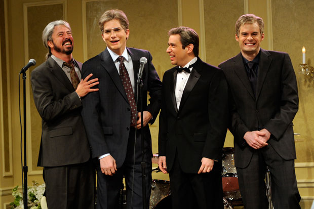 Dave Grohl on Saturday Night Live with Fred Armisen, Ashton Kutcher, and Bill Hader