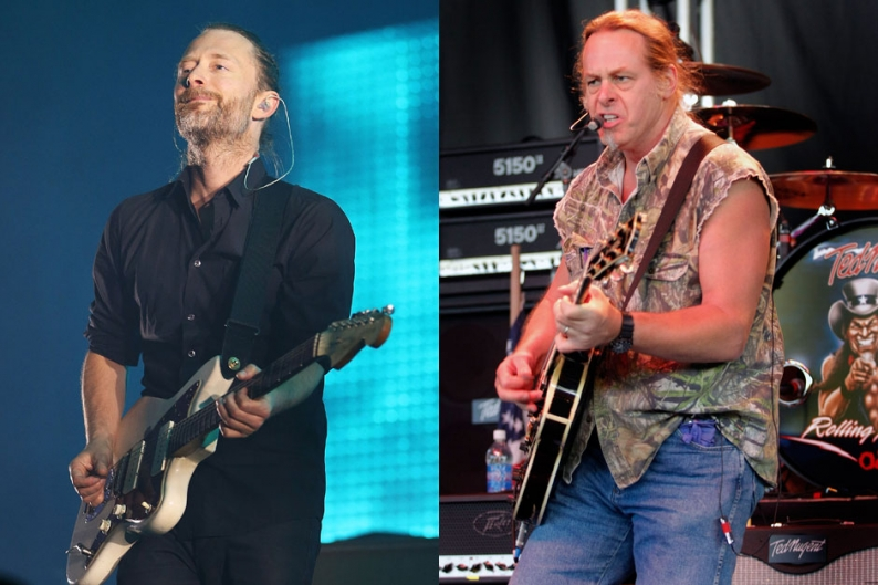 thom yorke, radiohead, ted nugent, pro-hunting, april fool's day