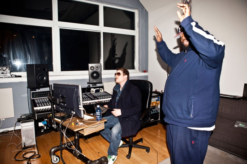 El-P and Killer Mike in the studio / Photos by Jolie Ruben