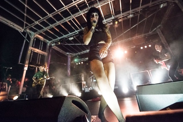 Sleigh Bells at Treasure Island Music Festival, San Francisco, October 20, 2013 / Photo by Wilson Lee