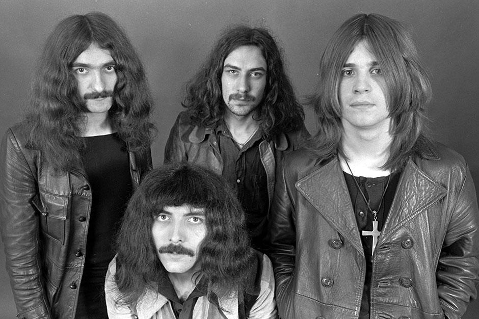 Black Sabbath (L-R) Geezer Butler, Tony Iommi, Bill Ward, Ozzy Osbourne
