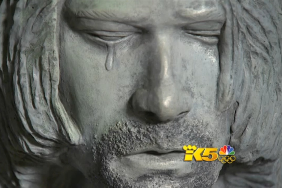 Kurt Cobain Day, statue, Aberdeen, Washington
