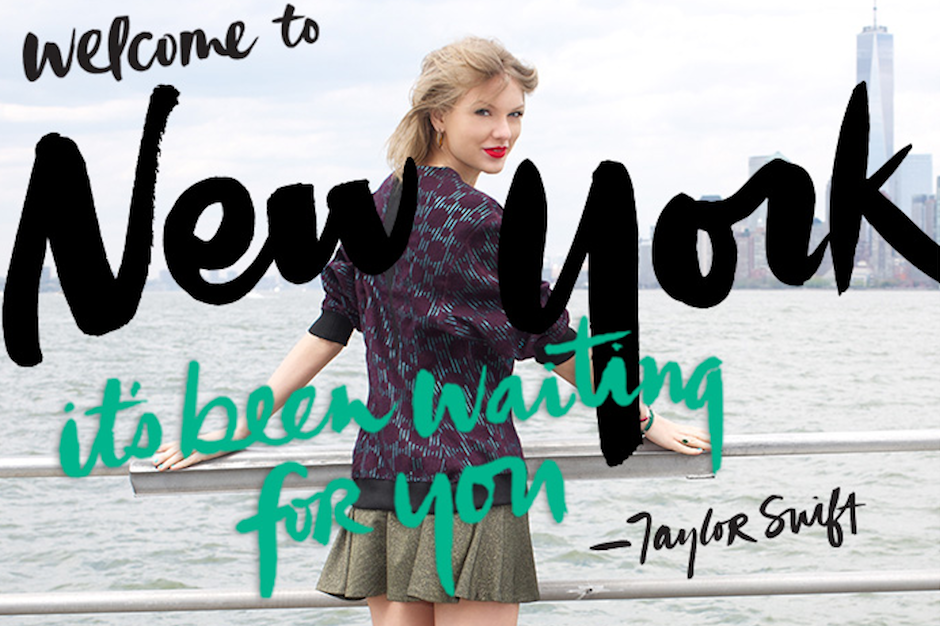 taylor swift, welcome to new york, welcome ambassador, tourism, nycgo