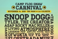 Tyler, the Creator's Camp Flog Gnaw Carnival Lineup: Snoop Dogg, A$AP Rocky, Danny Brown, More